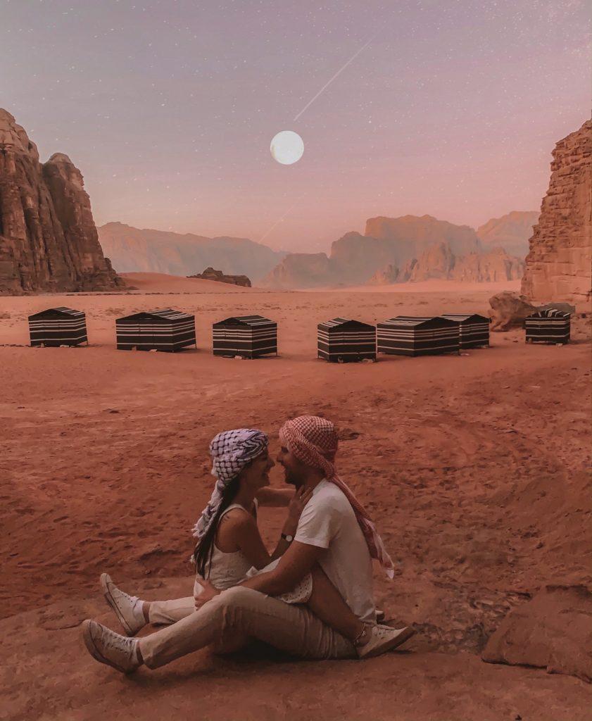 Wadi rum camp moon