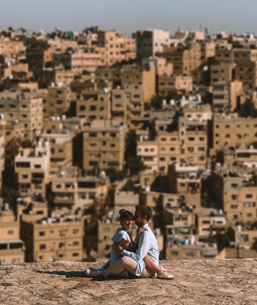 the view over Amman from the Citadel